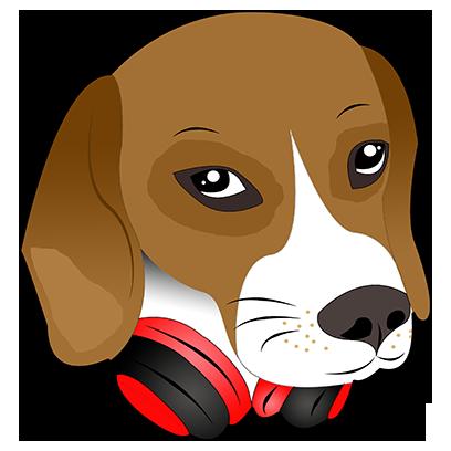 Beagle Bruno messages sticker-11