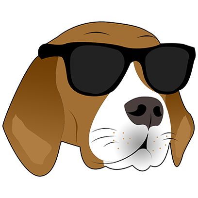 Beagle Bruno messages sticker-1