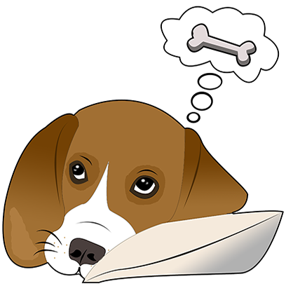 Beagle Bruno messages sticker-11
