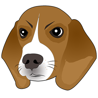 Beagle Bruno messages sticker-9
