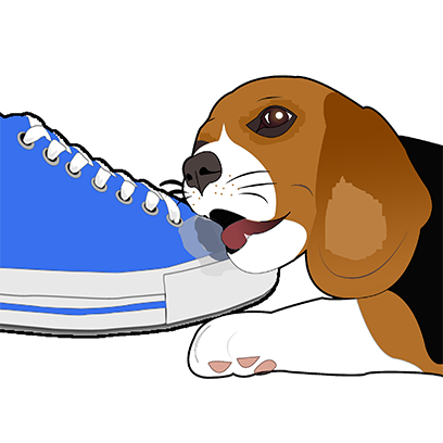 Beagle Bruno messages sticker-2