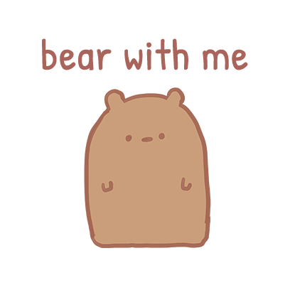 Blank Bear Stickers messages sticker-3