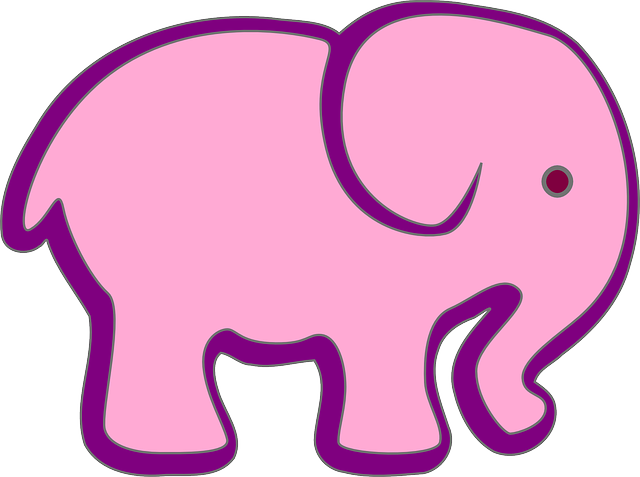 Pink Elephant Sticker Pack messages sticker-1
