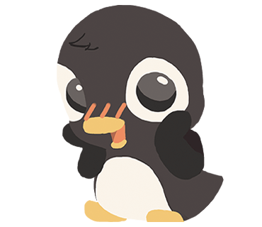 Penguin and Snake messages sticker-11