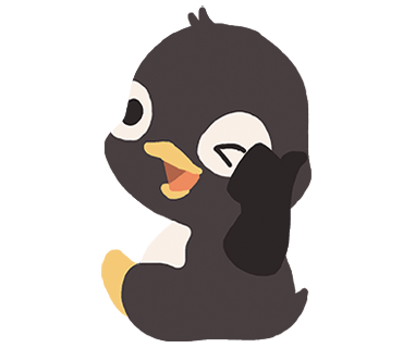 Penguin and Snake messages sticker-3