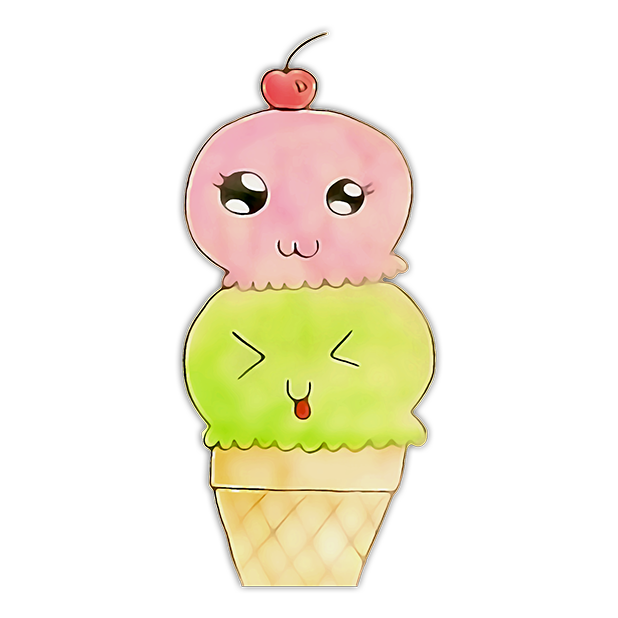 Kawaii! Ice Cream & Cake messages sticker-4