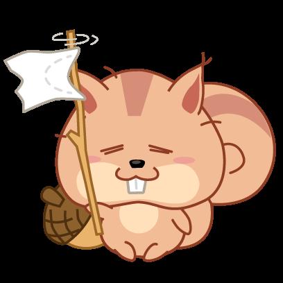Kwipi Squirrel Love Acorn messages sticker-5