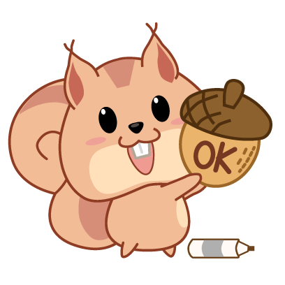 Kwipi Squirrel Love Acorn messages sticker-4