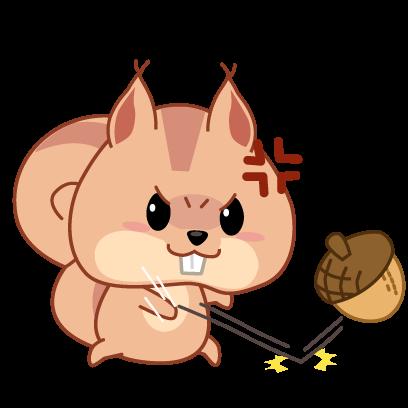 Kwipi Squirrel Love Acorn messages sticker-7