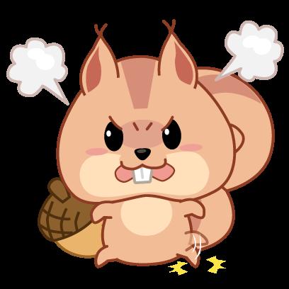 Kwipi Squirrel Love Acorn messages sticker-10