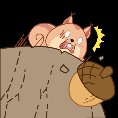 Kwipi Squirrel Love Acorn messages sticker-9