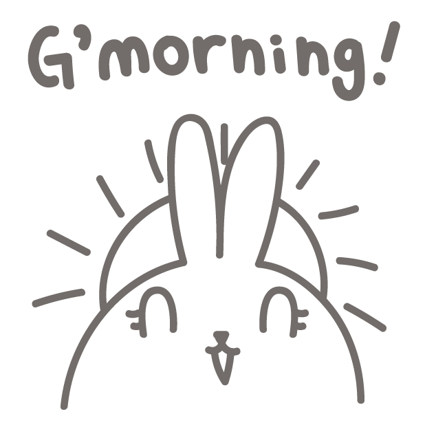 BunnyBunny-talking bunny messages sticker-0