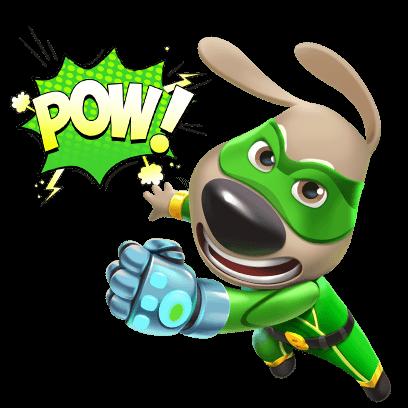 Talking Tom Hero Dash Run Game messages sticker-5