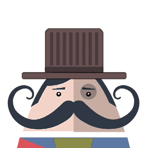 Mr. Mustachio Emoticons! messages sticker-7