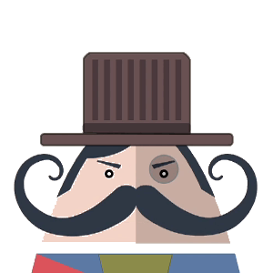 Mr. Mustachio Emoticons! messages sticker-4