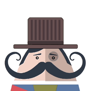 Mr. Mustachio Emoticons! messages sticker-5