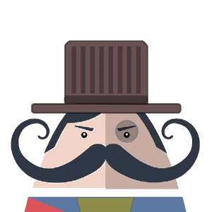 Mr. Mustachio Emoticons! messages sticker-0