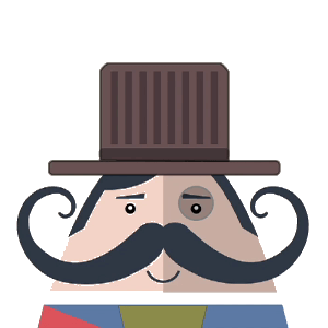 Mr. Mustachio Emoticons! messages sticker-3