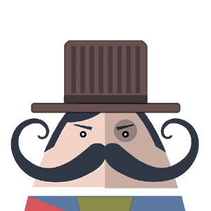 Mr. Mustachio Emoticons! messages sticker-1