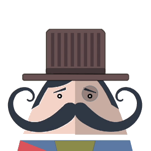 Mr. Mustachio Emoticons! messages sticker-10