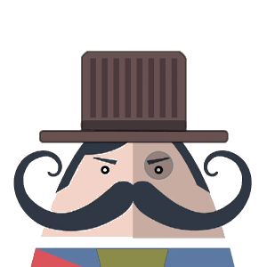 Mr. Mustachio Emoticons! messages sticker-11
