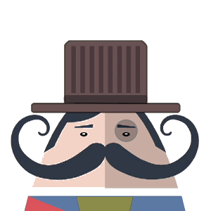 Mr. Mustachio Emoticons! messages sticker-6