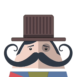 Mr. Mustachio Emoticons! messages sticker-8
