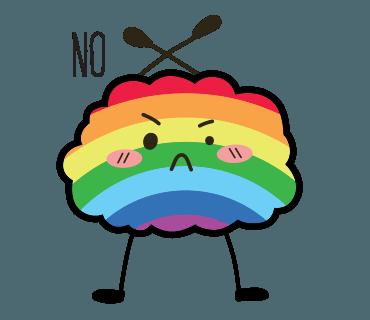 Proud LGBT messages sticker-3