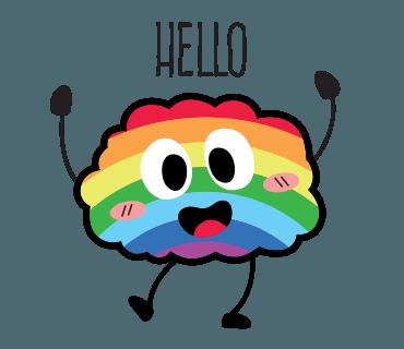 Proud LGBT messages sticker-1