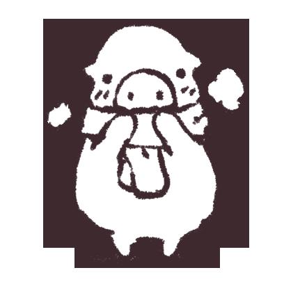 ゆるいブタの日常〈秋〉 messages sticker-4