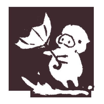 ゆるいブタの日常〈秋〉 messages sticker-2