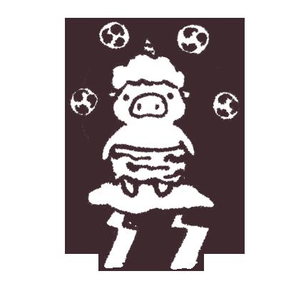 ゆるいブタの日常〈秋〉 messages sticker-0