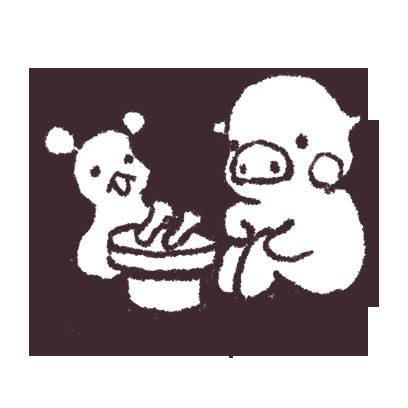 ゆるいブタの日常〈秋〉 messages sticker-8