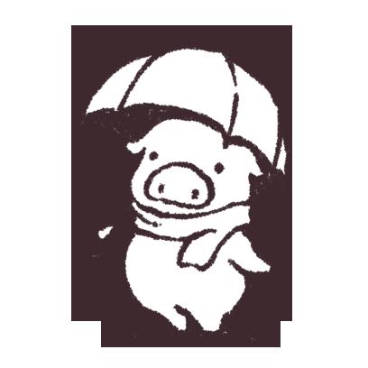 ゆるいブタの日常〈秋〉 messages sticker-1