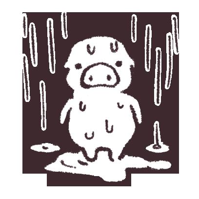 ゆるいブタの日常〈秋〉 messages sticker-3