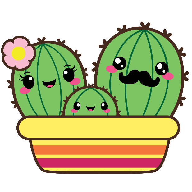 Kawaii Cactus Stickers messages sticker-4