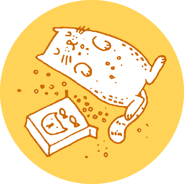 Hungry Sleepy Cats messages sticker-0