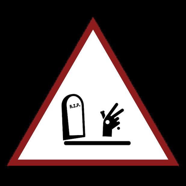 Baddays Warning Signs messages sticker-11