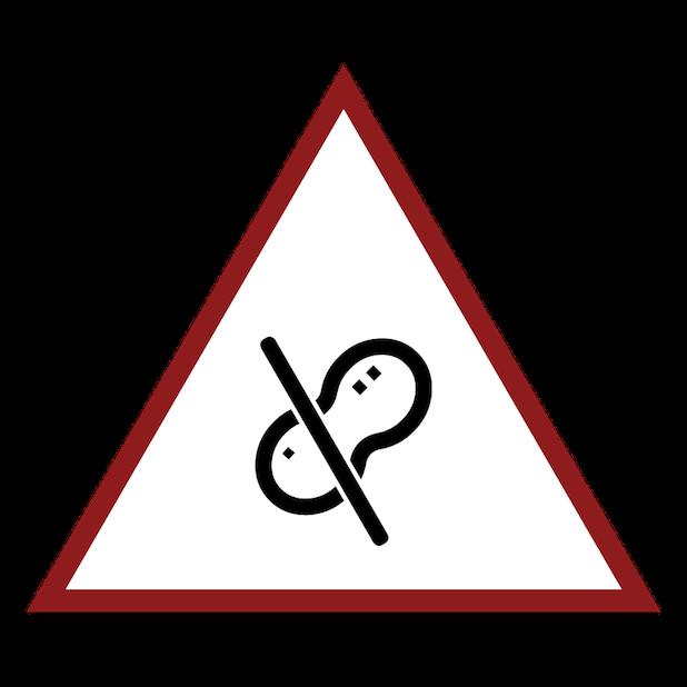 Baddays Warning Signs messages sticker-6