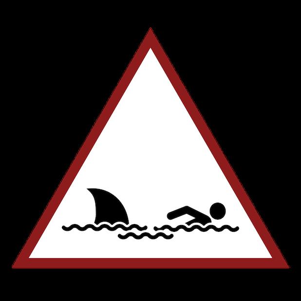 Baddays Warning Signs messages sticker-1