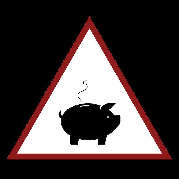 Baddays Warning Signs messages sticker-4