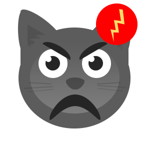 Gray Cat messages sticker-3