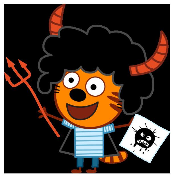Kid-E-Cats: Halloween messages sticker-7