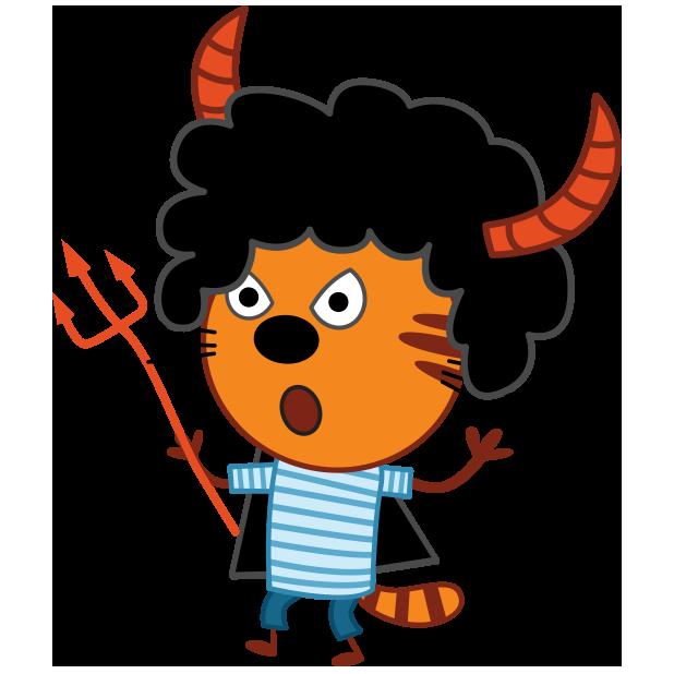 Kid-E-Cats: Halloween messages sticker-0