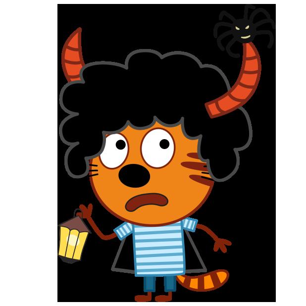 Kid-E-Cats: Halloween messages sticker-1