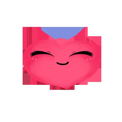 Loveji Hearts - a drop of love messages sticker-2