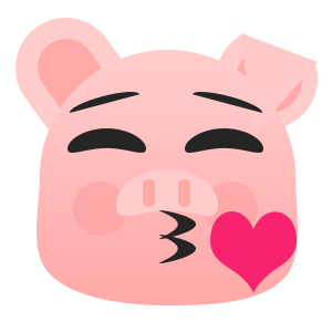 Pretty Pig messages sticker-1