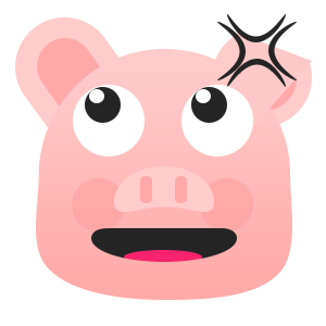 Pretty Pig messages sticker-7