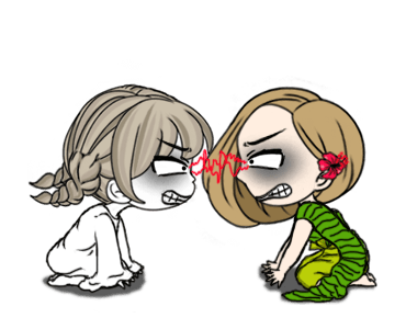 Cute Girl Makeup In Halloween messages sticker-7