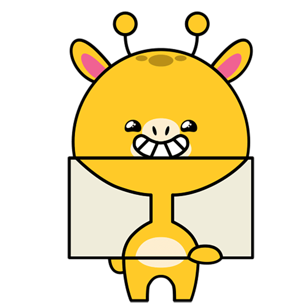 Short giraffe in the neck messages sticker-5